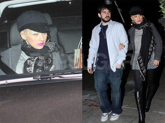Photos of Christina Aguilera and Jordan Bratman Leaving Osteria Mozza