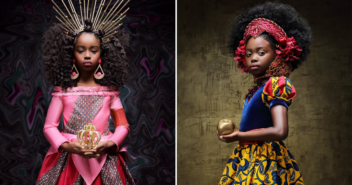 "This Regal Photo Shoot Reimagines Disney Princesses With a ""Twist of Black Girl Magic"""