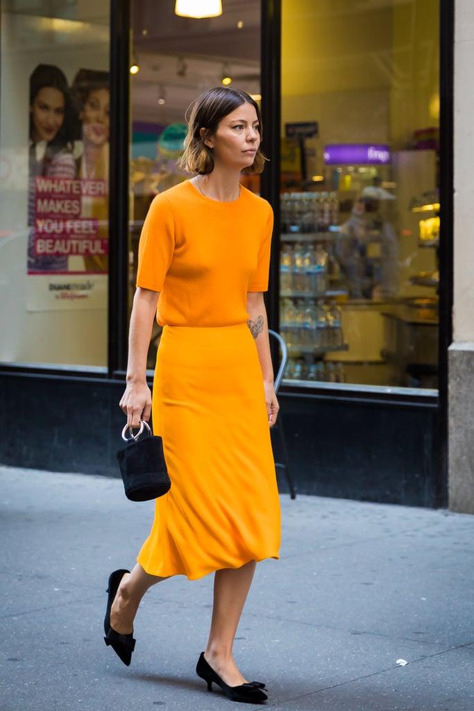 Go Monochrome in Orange, Then Add Black Accessories