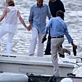 George Clooney and Stacy Keibler at Como   Pictures