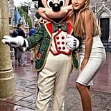 Later, Ariana Hung Out With Mickey, Who Was Also Rocking a New Look