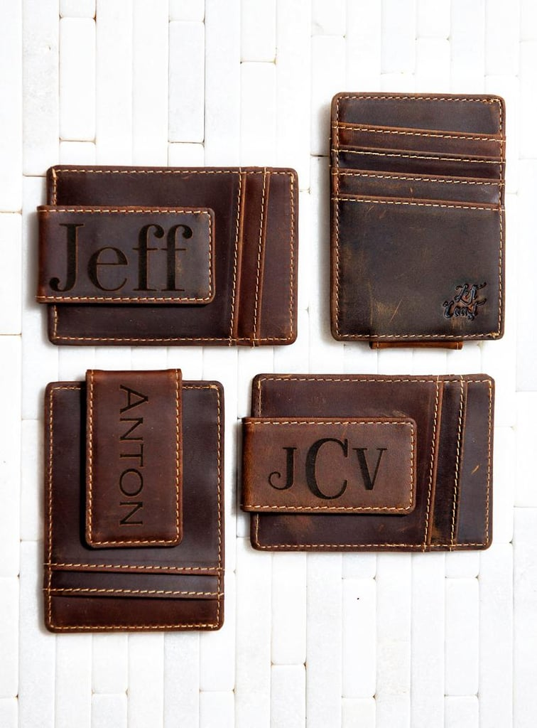 Linked Rope Genuine Leather Money Clip Personalized