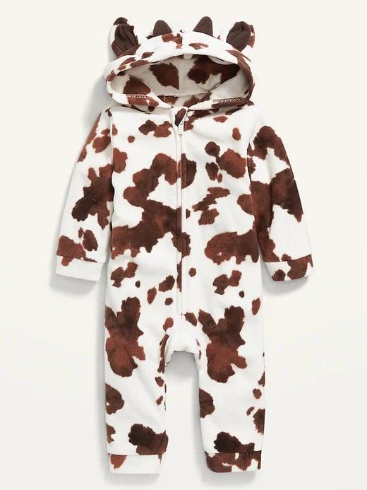 Old Navy Unisex Micro Fleece Cow-Critter One-Piece for Baby