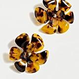 J.Crew Acetate Flower Stud Earrings