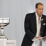 Prince William at polo event in Santa Barbara.