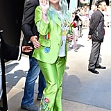 Good Morning America Green Suit Kesha