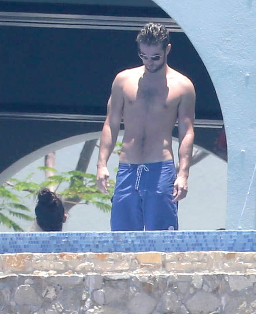 Chace Crawford went shirtless in Cabo.