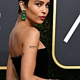 Zoë Kravitz at the 2018 Golden Globes