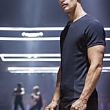Theo James looks built as Four.