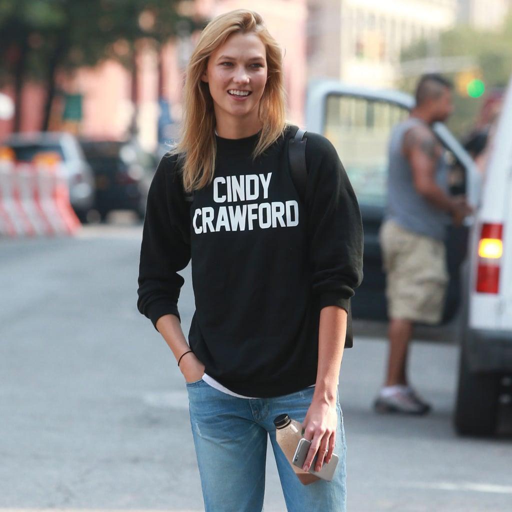 Karlie Kloss Cindy Crawford Sweatshirt From Reformation