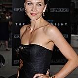 Maggie Gyllenhall in Dries Van Noten at The Dark Knight Premiere