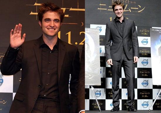 Photos of Twilight's Robert Pattinson Promoting New Moon With Chris Weitz in Tokyo