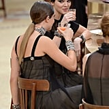 And of Course, Kendall and Cara Celebrated With a Round of Juice