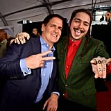 Pictured: Mark Cuban and Post Malone