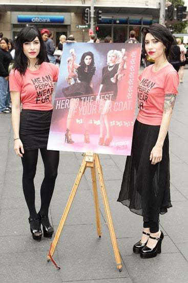 the veronicas jess and lisa origliasso debut their anti-fur peta ad