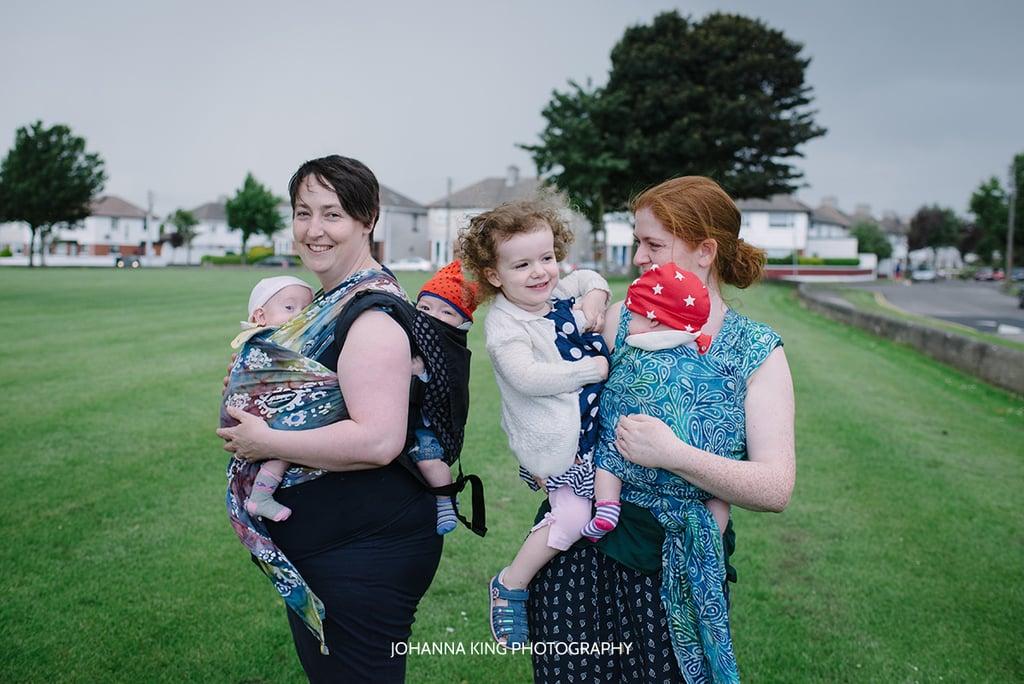 Moms Tandem Breastfeeding Triplets and Toddler