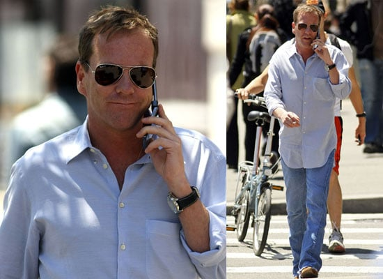 Photos of Kiefer Sutherland in New York City Where 24 Season Eight Will Be Filmed