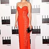 Kate Hudson donned a red Stella McCartney gown to step out for the Elle Style Awards at The Savoy hotel in London.