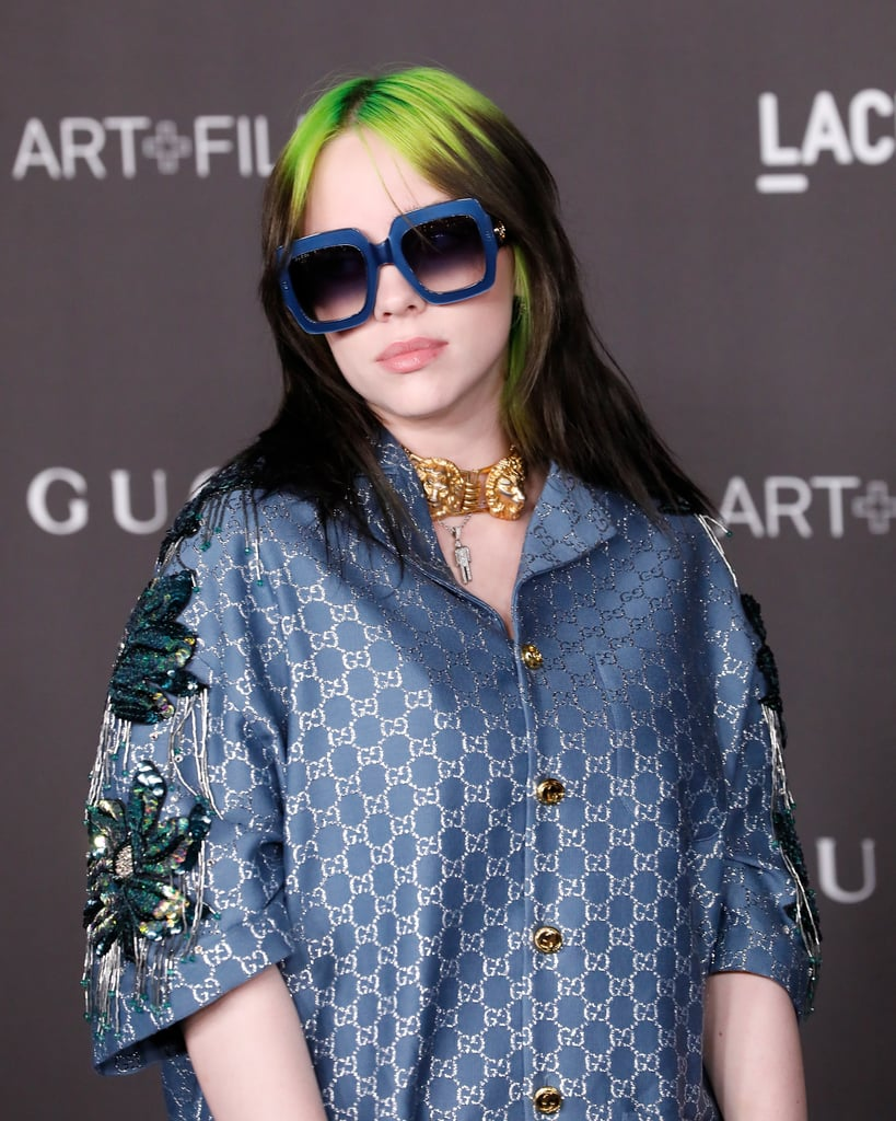 Billie Eilish Wore Silk Gucci Pajamas on the Red Carpet