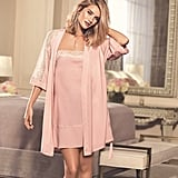 Rosie for Autograph Soft Satin Frilled Chemise ($27) and Lace Trim Belted Wrap ($33)