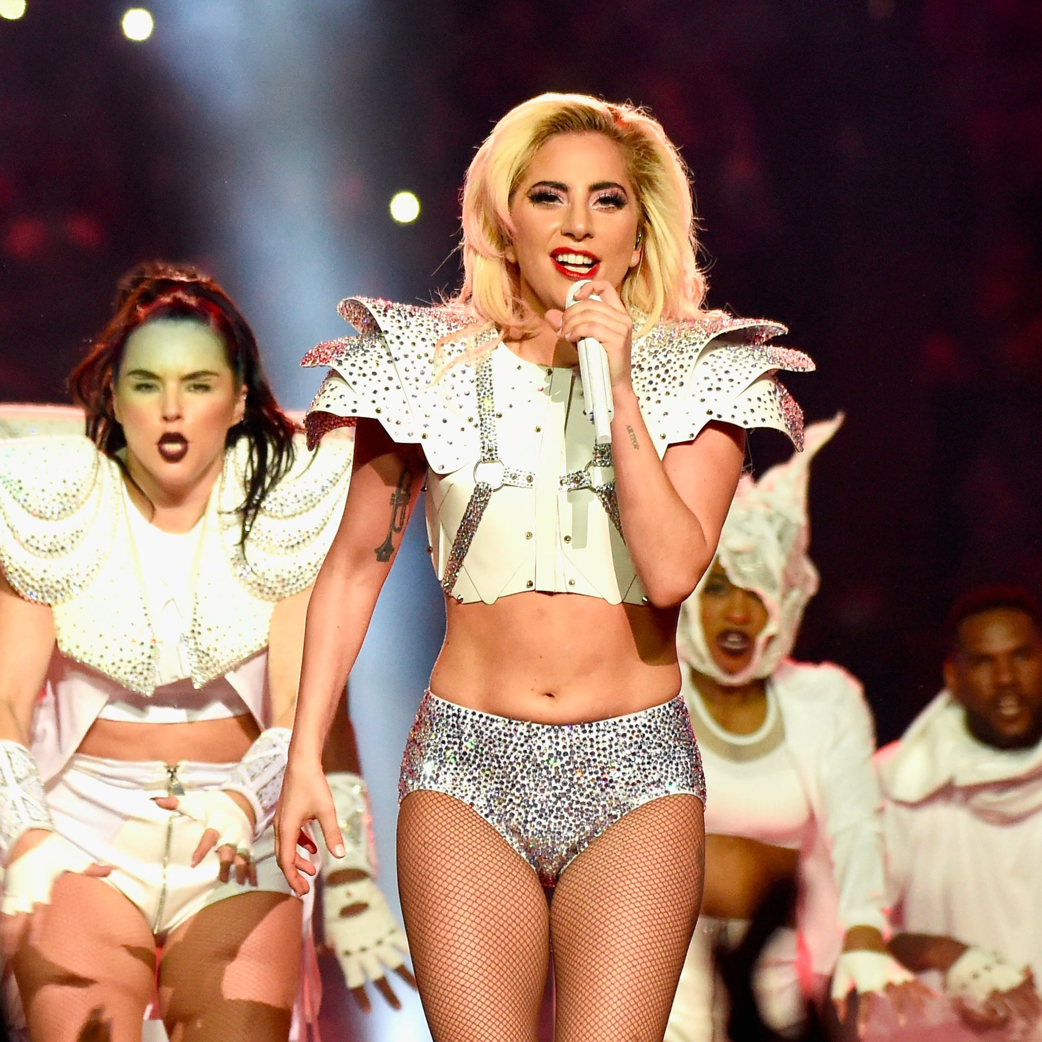 lady gaga body shamed during super bowl | popsugar fitness