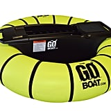 The GoBoat Motorized Pool Float in Yellow