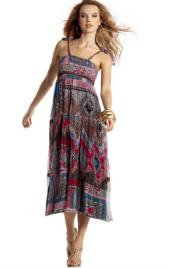 INC International Concepts® Tiered Mixed-Print Maxi Dress