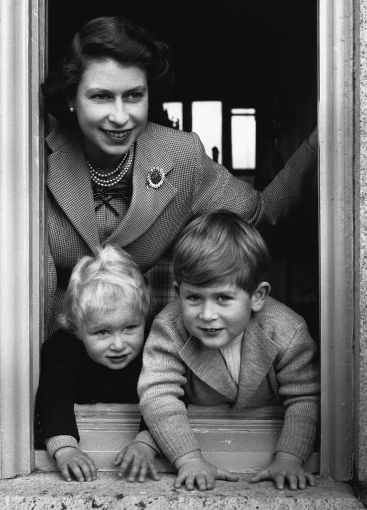 Her Majesty and Prince Charles and Princess Anne in 1951