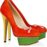 Arabella Color-Block Suede Platform Pumps ($475, originally $945)