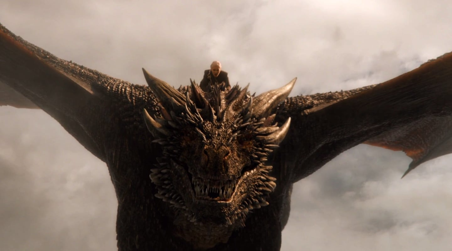 did the dragon die on game of thrones popsugar entertainment