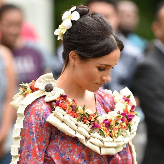 Meghan Markle Wears Figue Ruffle Dress In Fiji October