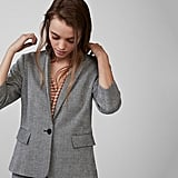 Express Cropped Sleeve Blazer