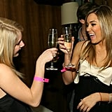 Lauren Conrad and Heidi Montag celebrated Lauren's 21st birthday in LA in February 2007.