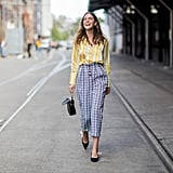 Wear a Yellow Blouse With Printed Pants