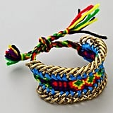 Metallic accents are mixed with rainbow colorways in this eye-catching bracelet.  Dannijo Lindsay Bracelet ($71)