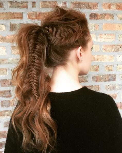 Fishtail Braid Ponytail Photos