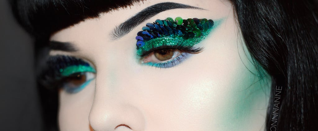 Woah, This Dragon Scale Makeup With Reversible Sequins Is Amazing