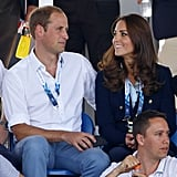 William put an arm around Kate, who shot him a loving look at the Commonwealth Games in July 2014.