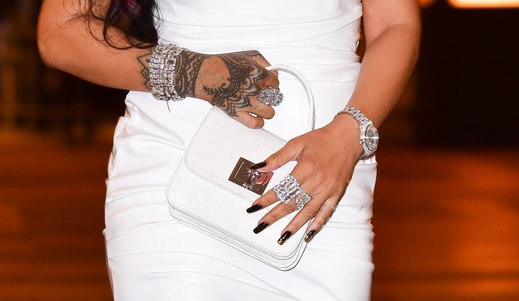 Rihanna's Black-and-Gold Nail Art