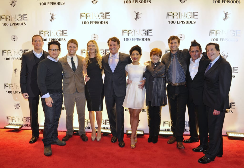 Joe Earley, J.J. Abrams, Seth Gabel, Anna Torv, John Noble, Jasika Nicole, Blair Brown, Joshua Jackson, J.H. Wyman, and Peter Roth were on the red carpet  at the Fringe100 episodes and final season party in Vancouver.