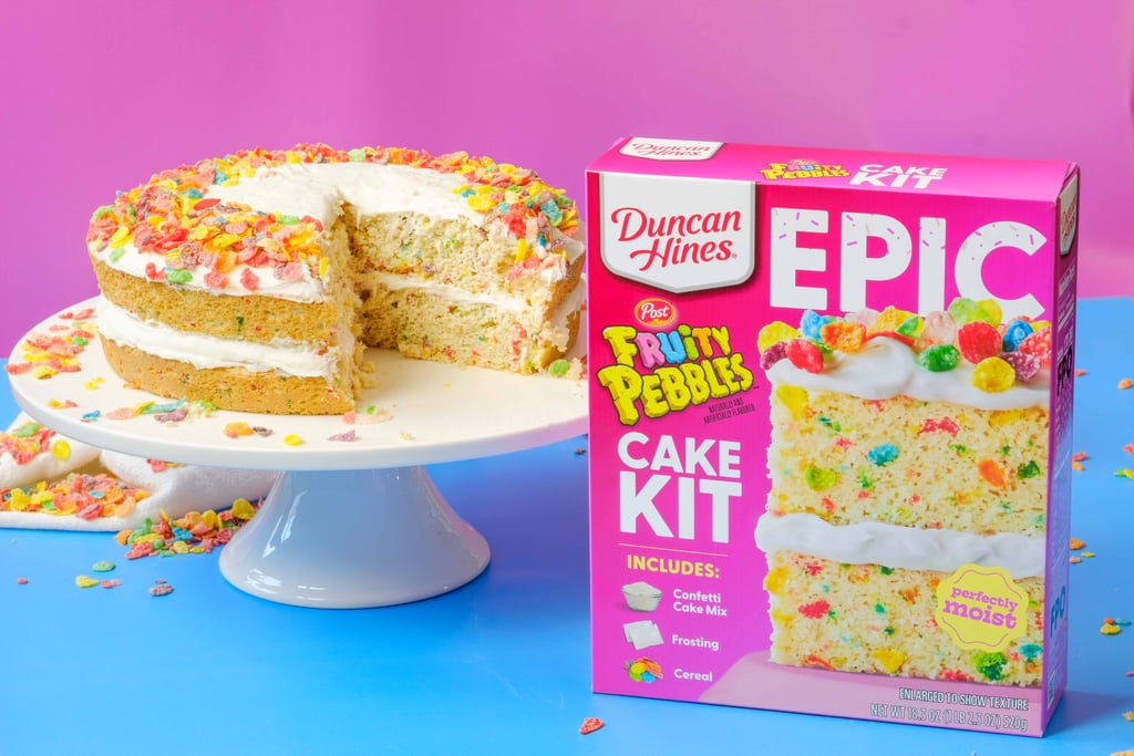Duncan Hines Fruity Pebbles Cake Kit With Cereal Frosting