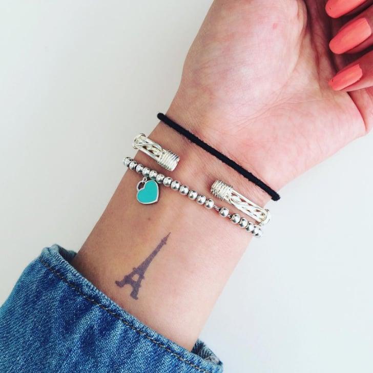 eiffel tower tattoos popsugar smart living rh popsugar com eiffel tower tattoo pictures eiffel tower tattoo small