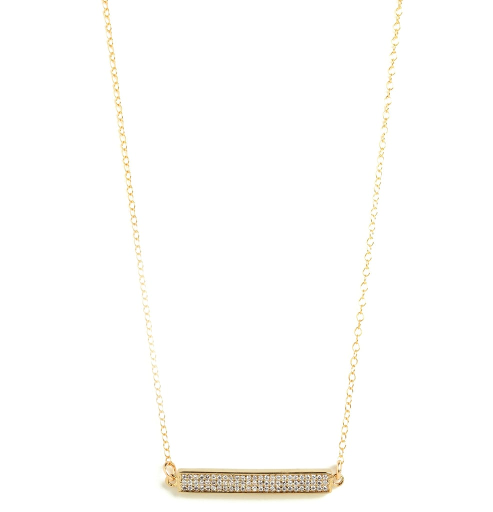 The design of this Gorjana for Bauble Bar necklace ($100) may be simple, but it's also elegant and appropriately sparkly. We say it's a win-win.
