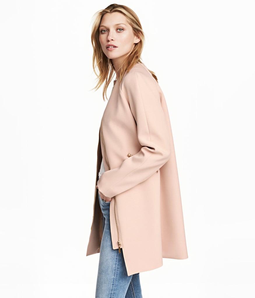 H&M Short Coat | The Best Millennial Pink Jackets | POPSUGAR ...