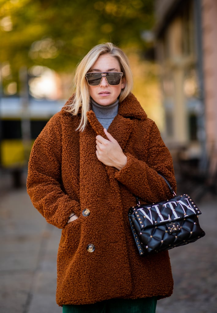 Keep Warm in a Teddy Bear Coat and Turtleneck