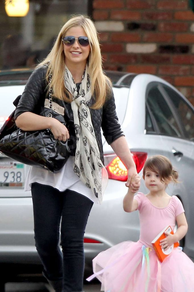 Sarah Michelle Gellar and Charlotte Prinze left Charlotte's dance lesson together.