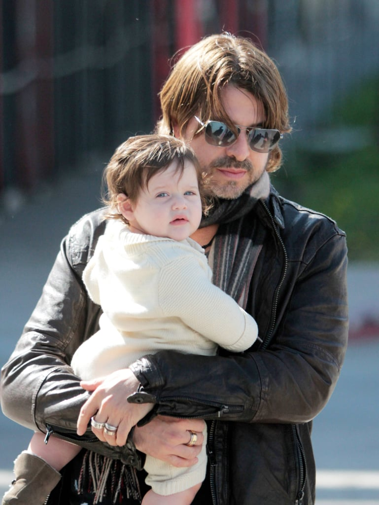 Rodger Berman carried mini me Skyler during their Beverly Hills stroll.