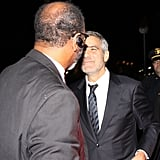 George Clooney had a police escort off a train.