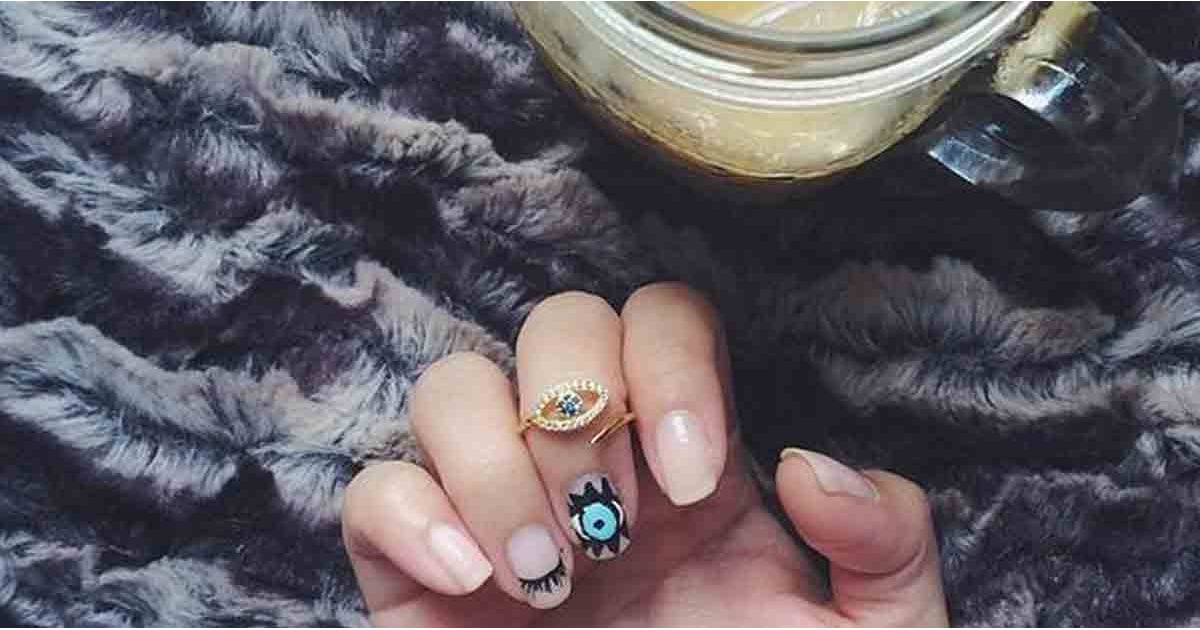 Evil Eye Nail Art Ideas | POPSUGAR Beauty