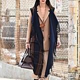 Winter Outfit Idea: A Plaid Vest and a Neutral Suit
